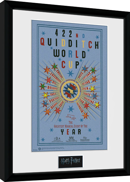 Framed poster Harry Potter - Quidditch World Cup 2