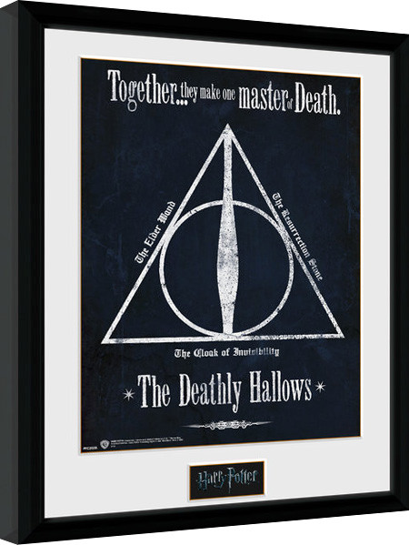 Framed poster Harry Potter - The Deathly Hallows