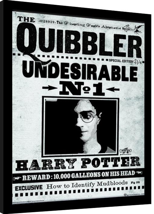Framed poster Harry Potter - The Quibbler