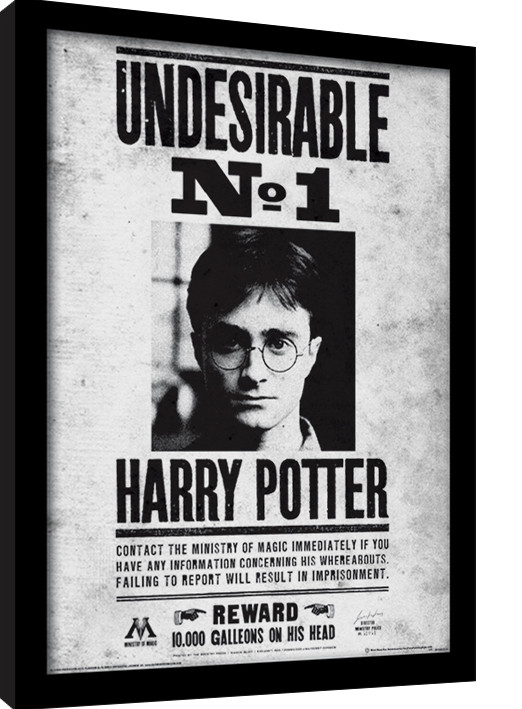 Harry Potter - Undesirable No1 Framed poster