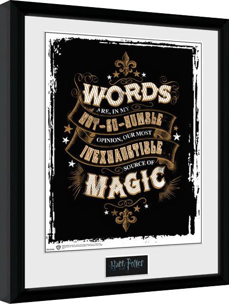 Harry Potter - Words Framed poster