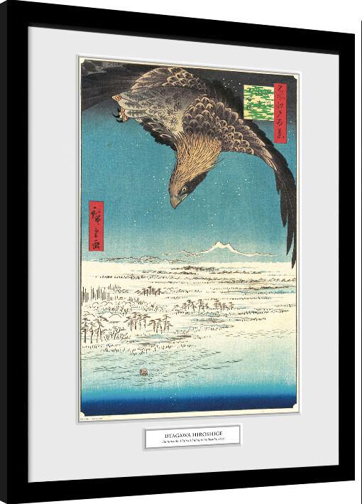 Framed poster Hiroshige - Jumantsubo Plain at Fukagawa Susaki