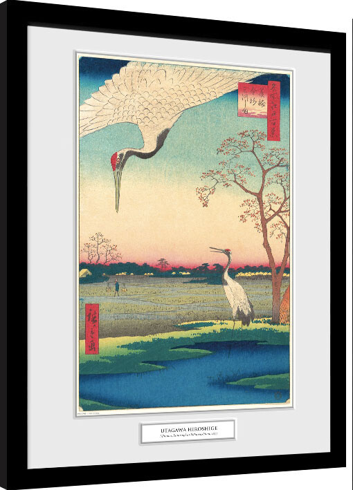 Framed poster Hiroshige - Minowa, Kanasugi at Mikawashima