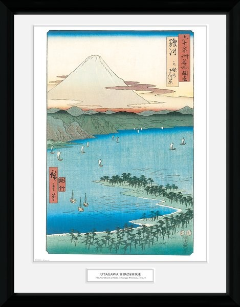 Framed poster Hiroshige - The Pine Beach At Miho