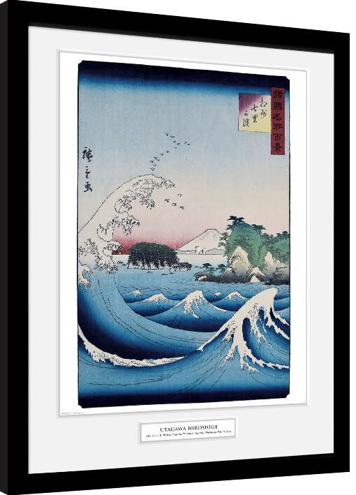 Framed poster Hiroshige - The Seven Ri Beach