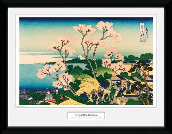 Framed poster Hokusai - Goten Yama Hill