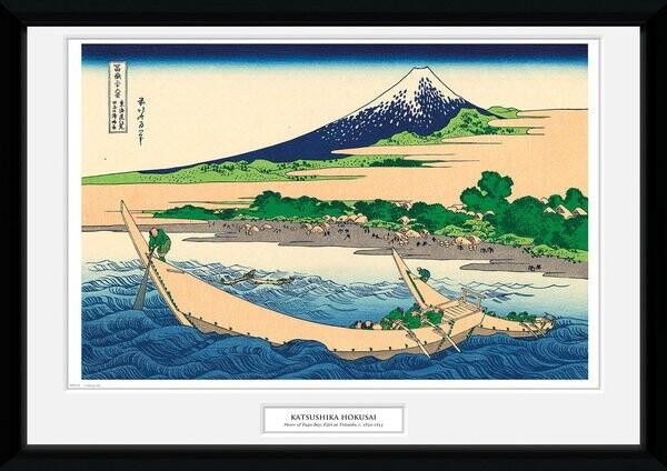 Framed poster Hokusai - Shore of Tago Bay