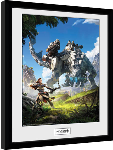 Horizon Zero Dawn - Key Art Framed poster
