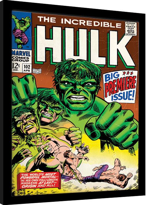 Framed poster Hulk - Comic Cover