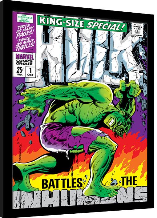Framed poster Incredible Hulk - Inhumans
