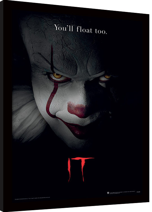 Framed poster IT - Pennywise Face