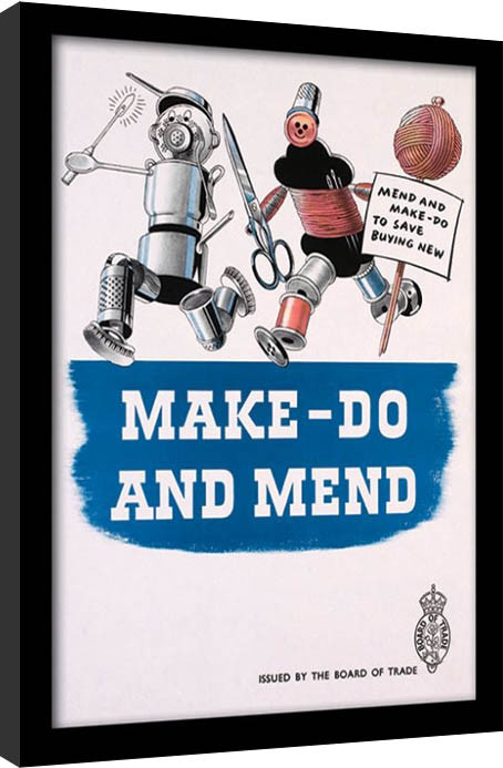IWM - Make Do & Mend Framed poster
