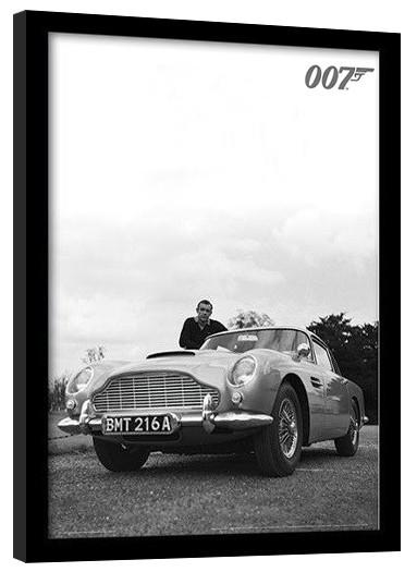 JAMES BOND 007 - connery b+w Framed poster