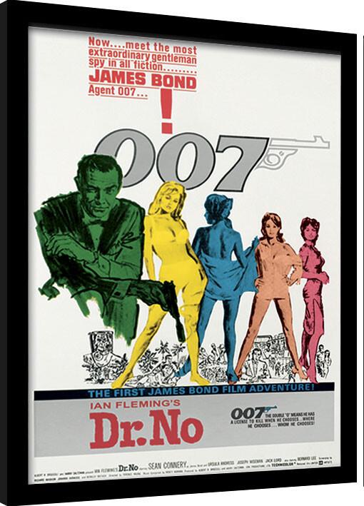 Framed poster James Bond - Dr No One Sheet