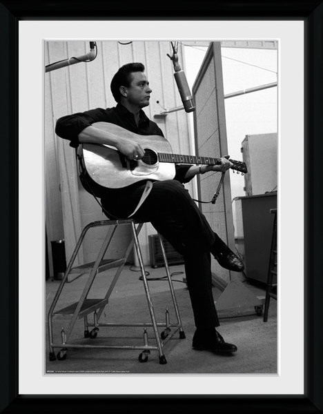 Johnny Cash - Studio Framed poster | Buy at Europosters