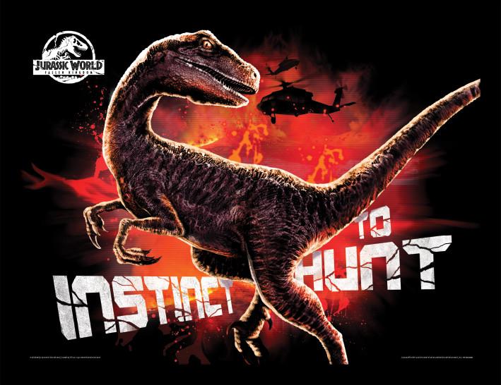 Jurassic World: Fallen Kingdom - Instinct To Hunt Framed poster