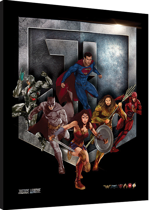 Justice League Movie - Heroes Shield Framed poster