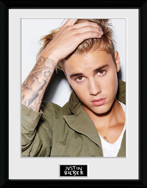 Justin Bieber - Green Jacket Framed poster