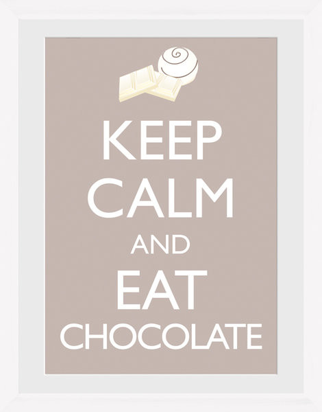 keep calm and eat chocolate framed poster buy at europosters