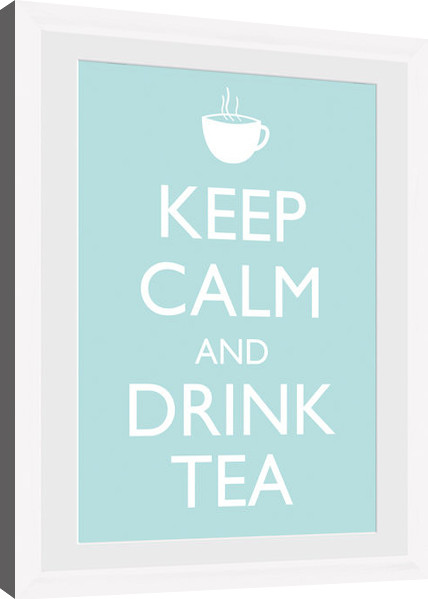 Keep Calm - Tea (White) Framed poster