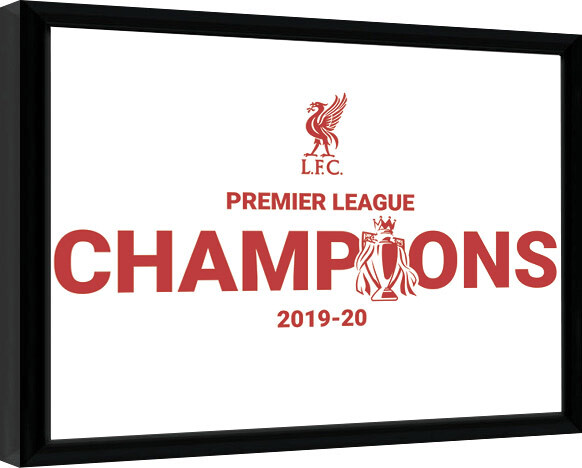 Framed poster Liverpool FC - Champions 19/20