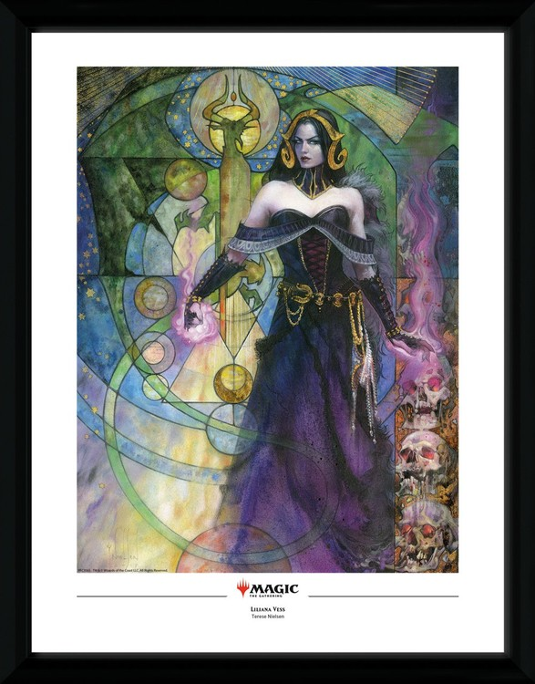 Framed poster Magic The Gathering - Liliana, Untouched by Death