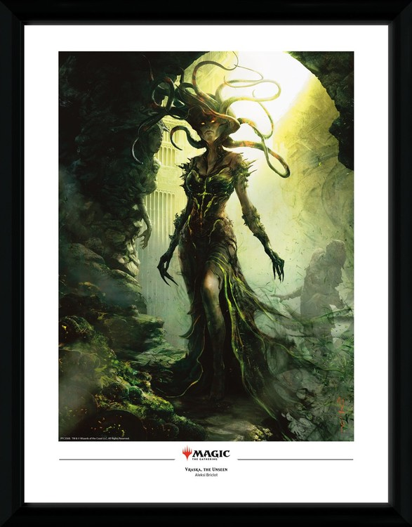 Framed poster Magic The Gathering - Vraska, The Unseen