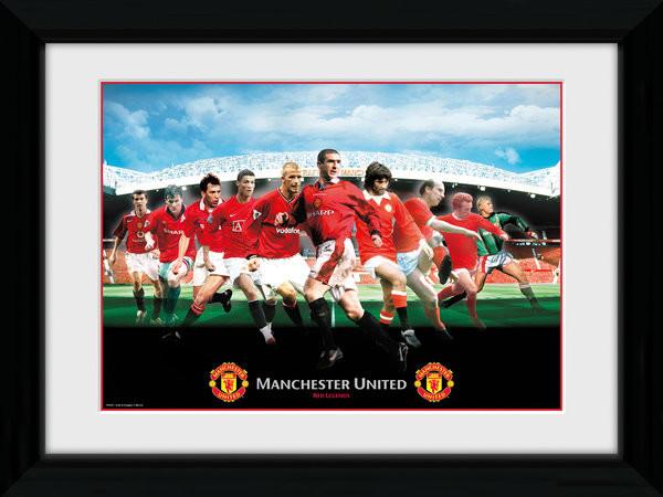 Manchester United - Legends Framed poster