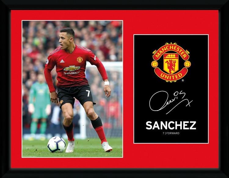 Manchester United - Sanchez 18-19 Framed poster
