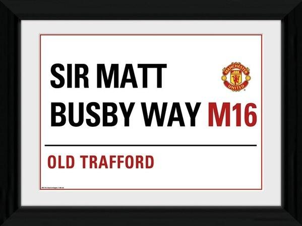 Manchester United - Street Sign Framed poster