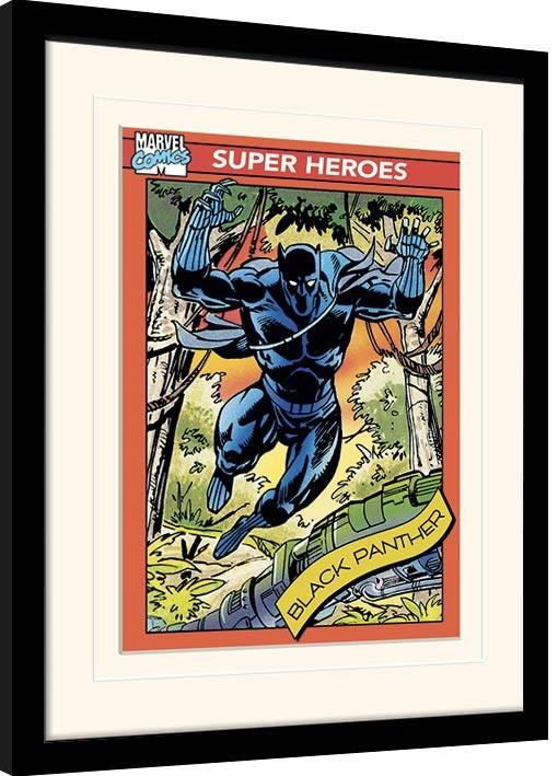 Framed poster Marvel Comics - Black Panther Trading Card