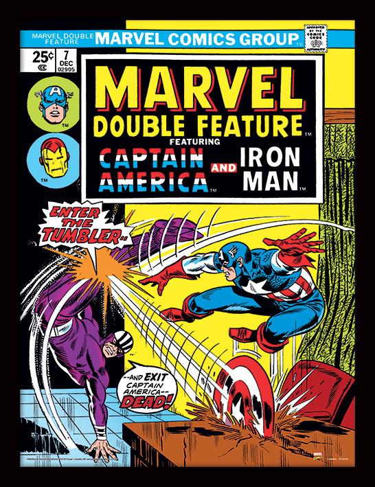 Framed poster Marvel Comics - Enter The Tumbler