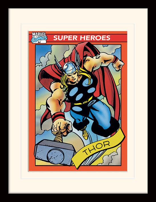 Framed poster Marvel Comics - Thor Trading Card