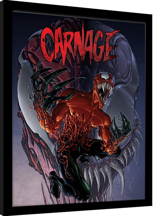 Carnage Black METAL License Plate Frame Auto Marvel