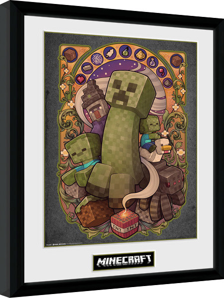 Minecraft - Creeper Nouveau Framed poster