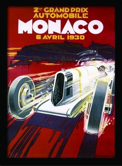 MONACO (1) Framed poster