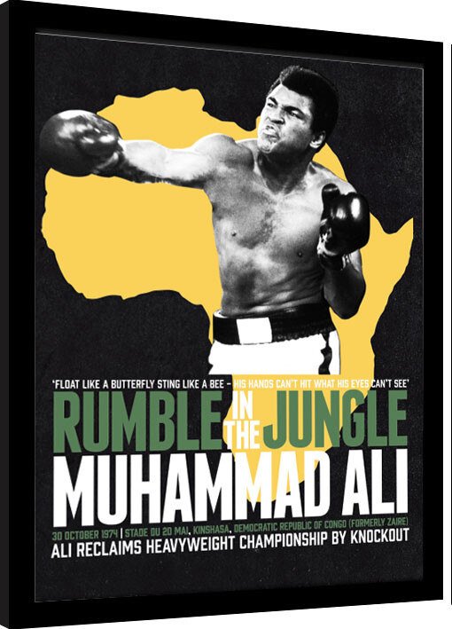 Framed poster Muhammad Ali - Rumble in the Jungle