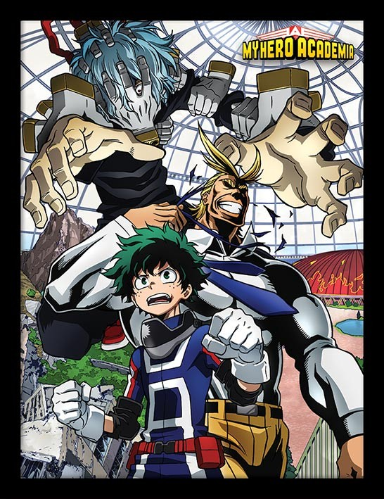 Framed poster My Hero Academia - An Enemy Threat