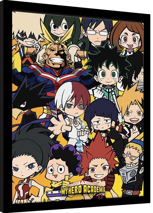 Framed poster My Hero Academia - Chibi Characters