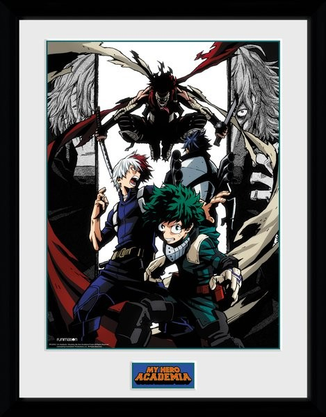 Framed poster My Hero Academia - Heroes and Villains
