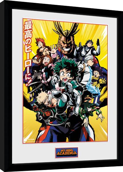 Framed poster My Hero Academia - Season 1