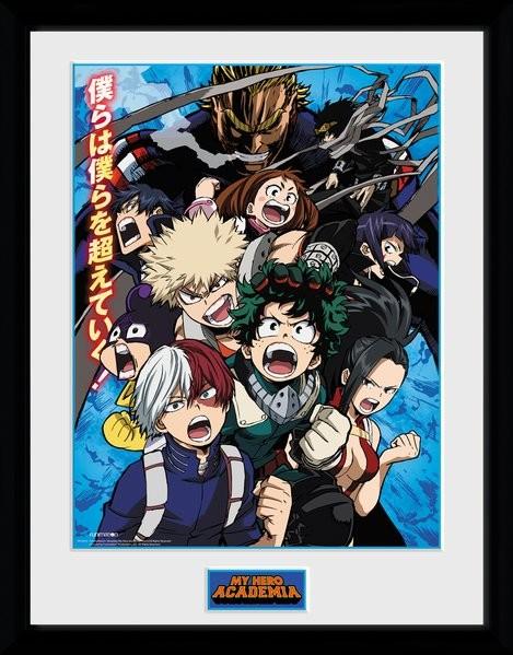Framed poster My Hero Academia - Season 2
