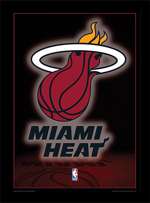 Nba Miami Heat Logo Framed Poster Buy At Europosters
