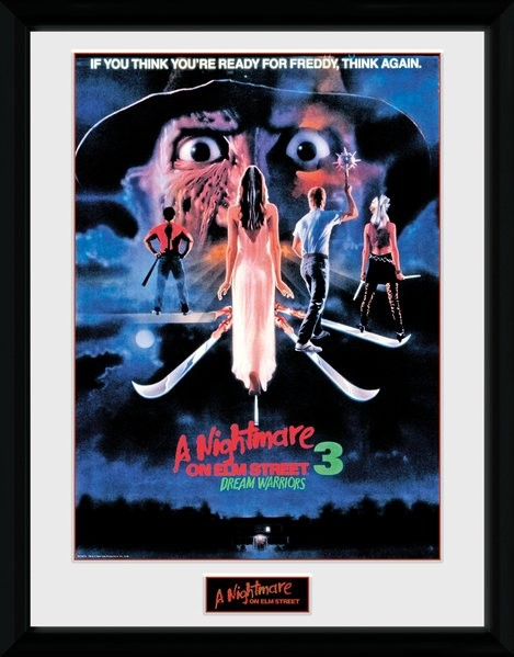 Framed poster Nightmare On Elm Street -Dream Warriors