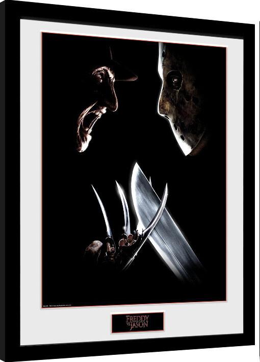 Framed poster Nightmare On Elm Street - Face Off