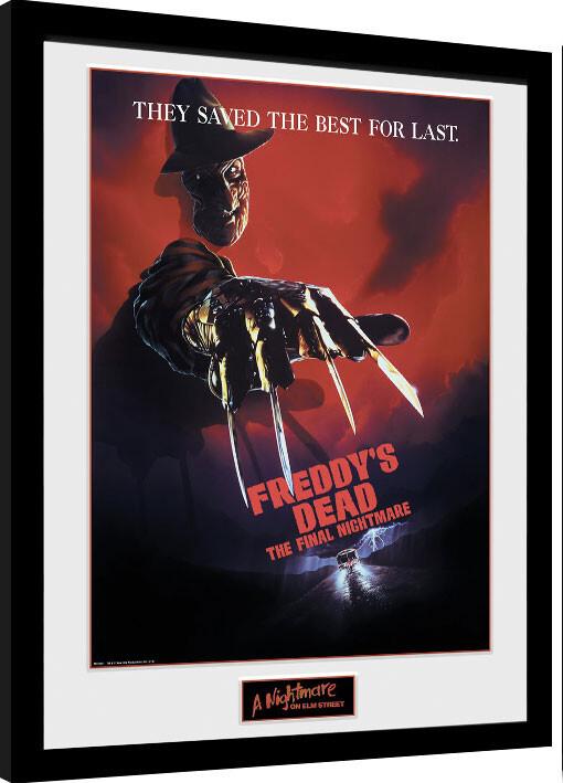 Framed poster Nigtmare On Elm Street - The Final Nightmare