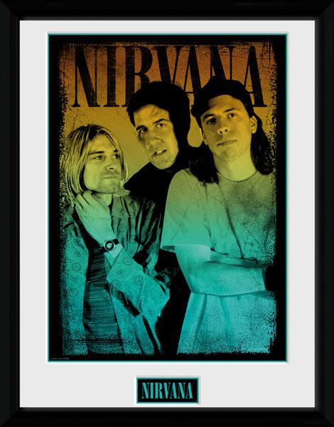 Nirvana - Gradient Framed poster