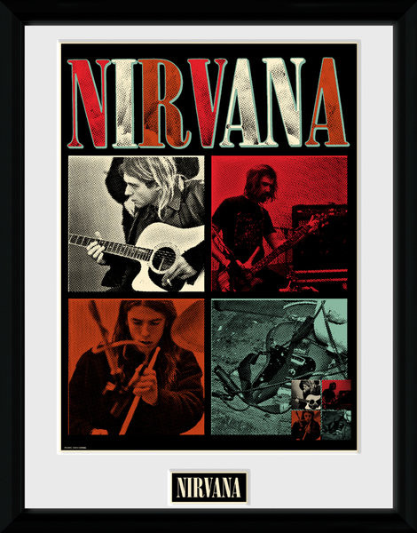 Nirvana - Squares Framed poster