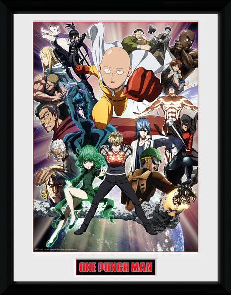 Framed poster One Punch Man - Key Art