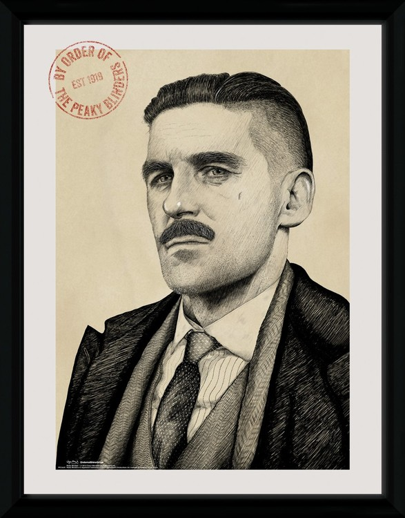 Framed poster Peaky Blinders - Arthur Portrait
